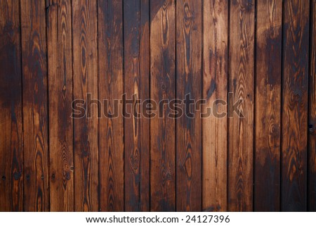 dark wood panel background - stock photo