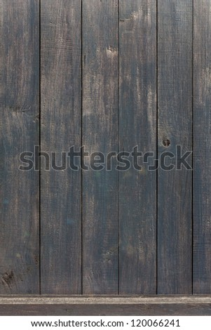 Dark wood panels background - stock photo