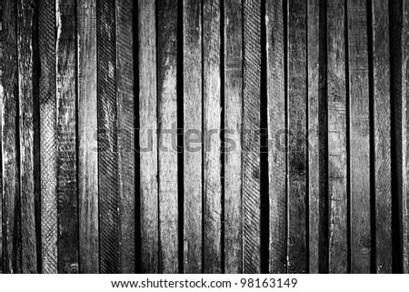 Dark wood, vintage or grunge background - stock photo