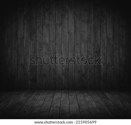 dark wooden interior room in black and white.