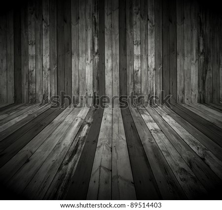 Dark Wooden Room as Background - stock photo