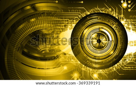 dark yellow Light Abstract Technology background for computer graphic website internet and business. circuit. illustration.digital.infographics. binary code. zero one. eye. scan virus