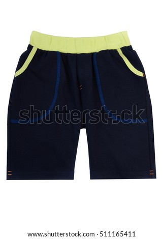 darkly blue shorts for children of school age isolated on a white background