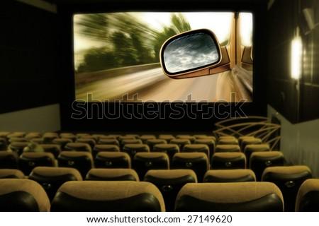 darkness cinema - stock photo