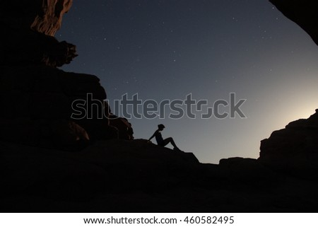 Darkness in Arches National Park