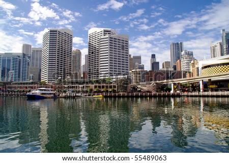 Darling harbour in Sydney, Australia - stock photo