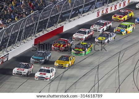 Darlington, SC - Sep 06, 2015: Kurt Busch (41) battles for position during the Bojangles' Southern 500 at Darlington Raceway in Darlington, SC.