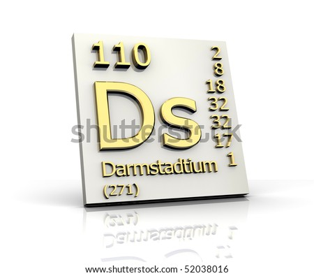 Darmstadtium Periodic Table of Elements - stock photoDarmstadtium Element