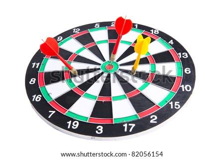 Dart and Dartboard - stock photo