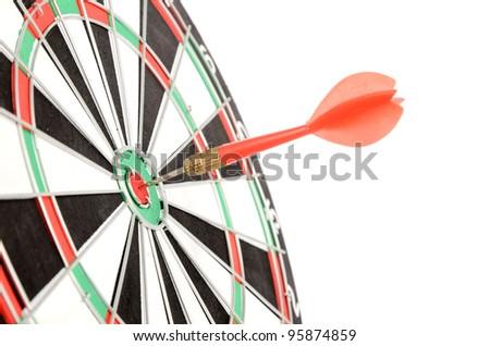 Dart and target - stock photo