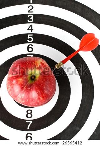 Dart Apple Dartboard Concept Success Close Stock Photo 26565412