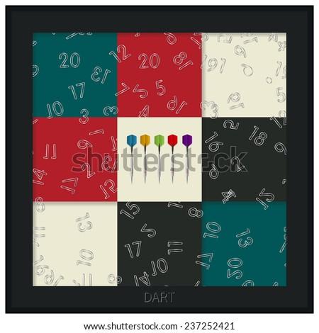 Dart board card - stock photo