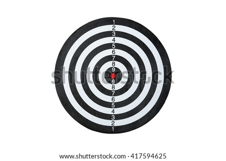 dart board isolated on a white background - stock photo