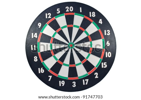 Dart board isolated over a white background