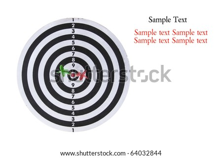 Dart Board on Isolated White Background - stock photo