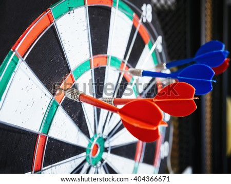 Dart board with Arrows Target Goal achievement concept Background - stock photo