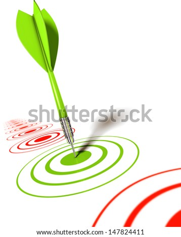 dart goal - stock photo