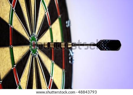 dart ideal shot concept - stock photo