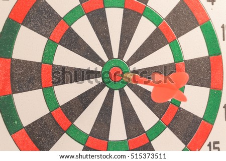 Dart target with arrows isolated on white background