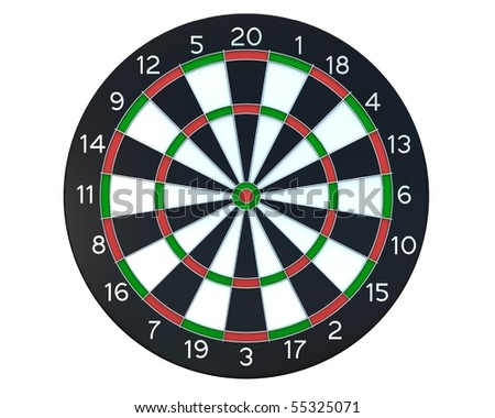 Dartboard front view - stock photo