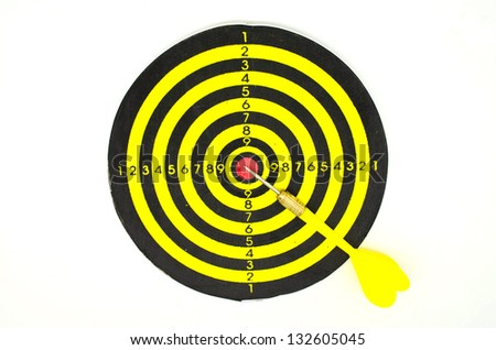dartboard game on white background