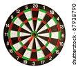 dartboard isolated on white background - stock photo
