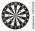 Dartboard isolated on white background - stock photo