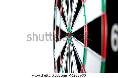 Dartboard Isolated on white background . - stock photo