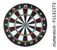 dartboard isolated over white background - stock photo
