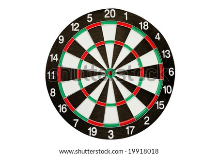 Dartboard isolated over white background