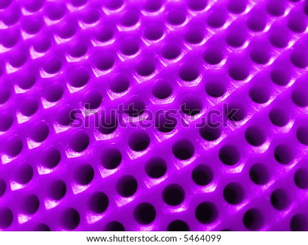 Dartboard - macro (violet) - stock photo