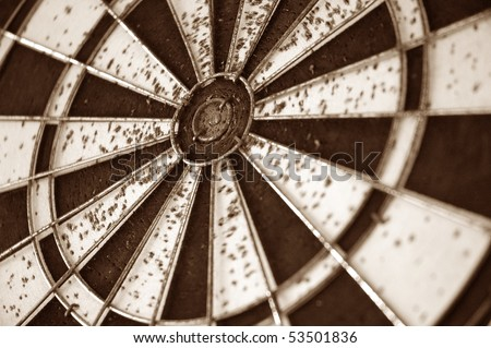 dartboard with lot of hole - stock photo