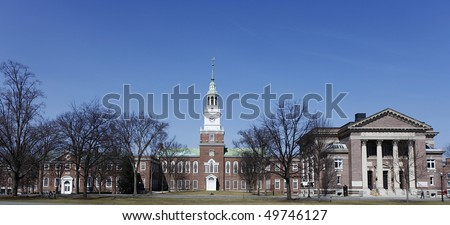 Dartmouth College Campus Library, Hanover, New Hampshire - stock photo