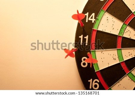 darts arrows missed their target - stock photo