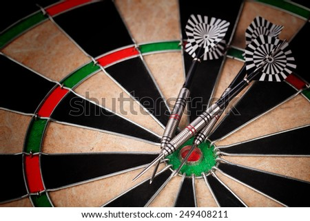 darts arrows on the target