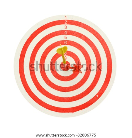 darts board - stock photo