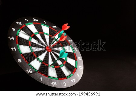Darts board and safety arrows for kids  - stock photo
