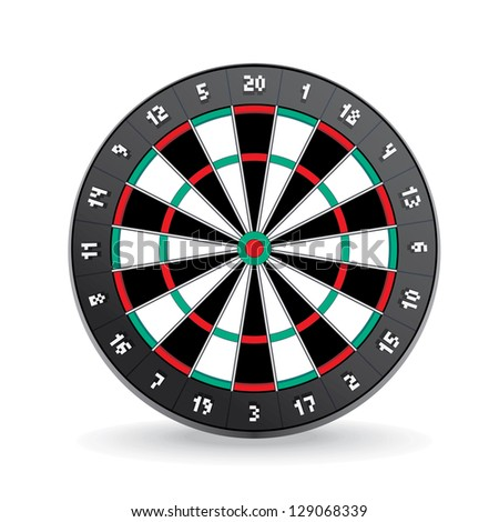 Darts Board Image Isolated on White.