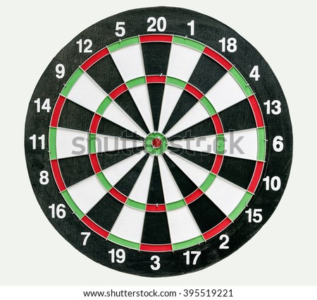 darts board isolated on white background