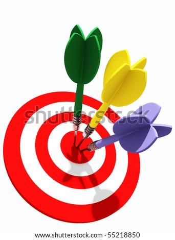 darts concept - stock photo