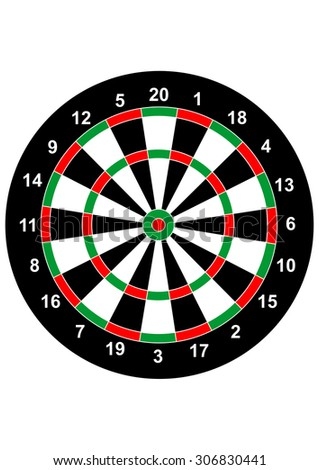 darts game board bullseye illustration target symbol