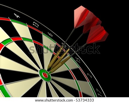 Darts game. 3d rendered image - stock photo
