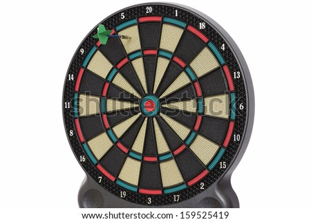 Darts game, number 5 - stock photo