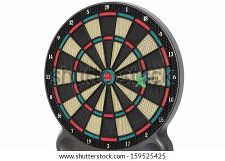 Darts game, number 6 - stock photo