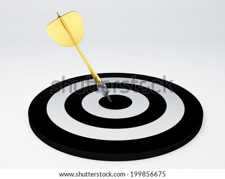 darts hit target. isolated white