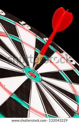 darts in the target