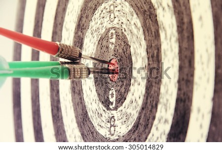 Darts in vintage style - stock photo
