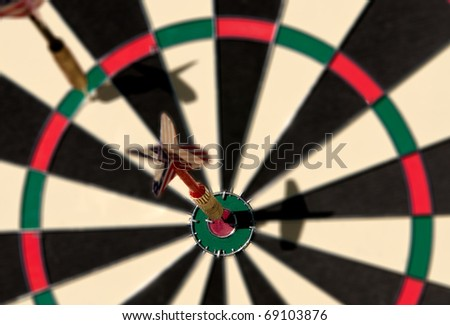 Darts on Bull's-eyes