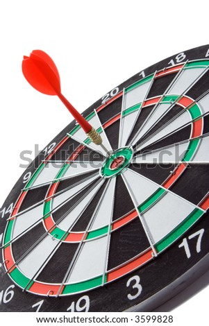 darts over white backgroubds - stock photo
