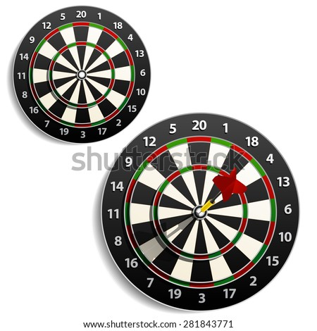 Darts. Raster version - stock photo